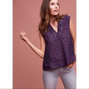 NWT Anthropologie Akemi + Kin Cadiz Top [Plum]